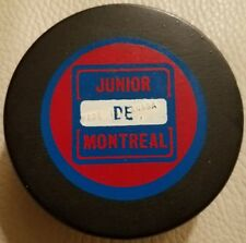 Montreal Junior QMJHL 1973-75 vintage Hockey Puck STAMPED MADE IN CANADA SCARCE