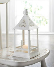 "shabby white 12"" floral open gazebo florist Candle holder Lantern wedding decor"