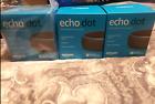 FREE SHIP Amazon Echo Dot (3rd Generation) Smart Speaker - Charcoal  Lot of 3