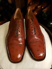 Caporicci Genuine ostrich Men Dress Shoes Sz 11.5-W
