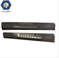 Ferrari 458 Sill Covers 1x1 weave 3k dry carbon match OEM - USA Seller