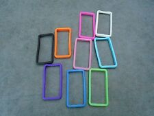 9 Nine Silicone iPhone 4 Bumper Case Surround Pink Purple Blue Green Orange New