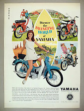 Yamaha Motorcycle PRINT AD - 1966 ~~ cycle, scooter