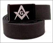 Custom Made Masonic Emblem Quality Canvas Web Belt and Buckle
