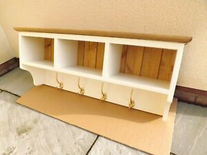 """Painted pine coat rack made by our own carpenter. 36""""W. Sale Price £99"""