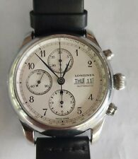 Longines Weems 30-meter chronographic, automatic, steel men's watch