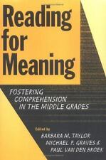 Reading for Meaning: Fostering Comprehension in the Middle Grades (Language and