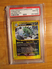 PSA-10 REVERSE Pokemon TYRANITAR Card EXPEDITION Set 29/165 Rare Foil E-Reader