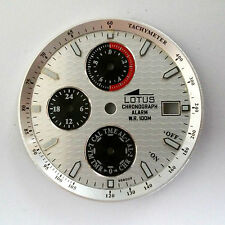 Esfera LOTUS CHRONOGRAPH ALARM WR 100 28.5mm Original Dial reloj Miyota 6W60
