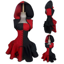 2017 Women Gothic Witch Hooded Dress Sleeveless Halloween Costume Cosplay Dress