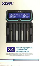 XTAR X4 2A Fast AC & USB Powered Li-ion/Ni-MH 18650 20700 21700 Battery Charger