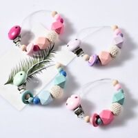 Dummy Clip Holder Baby Pacifier Clips Teething Silicone Beads Soother Chains UK