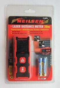 Neilsen 20m Laser Distance Meter. Measures Distance, Area and Volume – CT4890