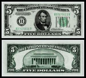 1934-A $5 DOLLAR BILL  FEDERAL RESERVE NOTE~ EXTRA FINE