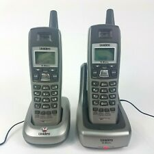 2 Uniden Cordless Telephones With Charger Bases & Batteries 5.8 GHz - DXI5686-2