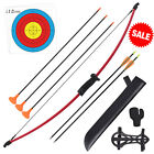 Youth Teens Archery Takedown Recurve Bow and Arrows Set For Kids Outdoor 16lb