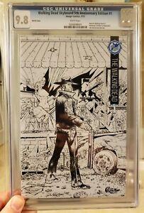 Walking Dead #1 CGC 9.8 Skybound 5th Anniversary Edition Black & White Sketch