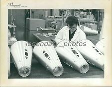 Scientist Works on Missile Parts Original News Service Photo