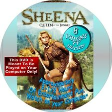 SHEENA QUEEN OF THE JUNGLE - 8 VINTAGE TV SERIES ON DISK - APPROX 2-1/2 HRS