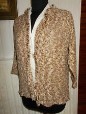 Pull gilet  maille doré beige coton/polyester LA FEE MARABOUTEE T.4 40/42