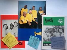 Spinners 3 X Concert Programmes With Tickets 1979 1980 1985