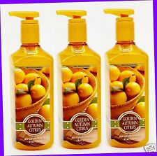 3 Bath & Body Works GOLDEN AUTUMN CITRUS Deep Cleansing Hand Soap
