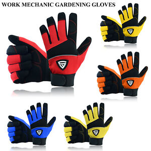 Safety Work Gloves Heavy duty Hand Protection Mechanic Gardening Builders Cut UK