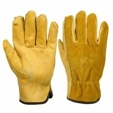 Genuine Leather Work Gloves Anti Slip Mechanic Vehicle Car Repair Pair Grip