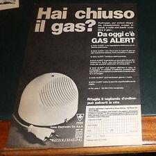 Advertising Italian Pubblicità Werbung: GAS ALERT **1977**