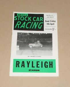1969 Rayleigh Brisca F2 stock car programme, 4 April (The Easter Trophy)