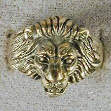 1 DELUXE LION FACE SILVER BIKER RING BR108 mens NEW jewelry RINGS lions head