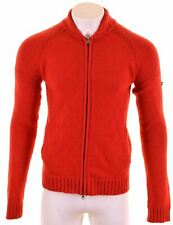 WOOLRICH Mens Cardigan Sweater Large Red Wool  EF01