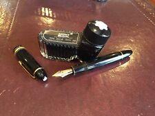 VTG 1990 Montblanc Meisterstuck 149 Fountain Pen Solid 18K Gold Nib 4810 18c 750