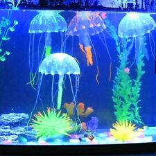1pc Aquarium Glowing Effect Artificial Jellyfish Fish Tank Underwater Luminous