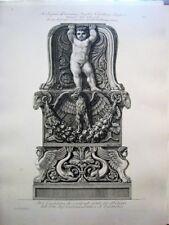 Piranesi.Etching of a candlestick from the Cardinal Lanti.Paris 1800-1806