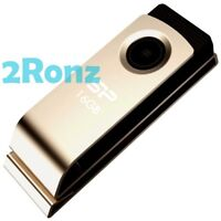 Silicon Power T825 16GB 16G USB Flash Drive Disk Touch Metal Paperclip Swivel