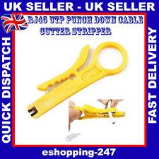 Red Rj45 Rj11 Pc Lan Cable cortador Stripper IDC Punch empuje hacia abajo herramienta E068