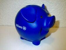 Sparschwein Sparbüchse Privat / Staat Von der Allianz Farbe: blau H: ca. 9,5 cm