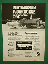 1/1988 PUB AVION CESSNA AIRCRAFT CESSNA U-27A MULTIMISSION MILITARY TRUCK AD
