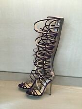 Jimmy Choo - new - knee high gladiator strappy sandals - size 37 - UK 4 -unworn