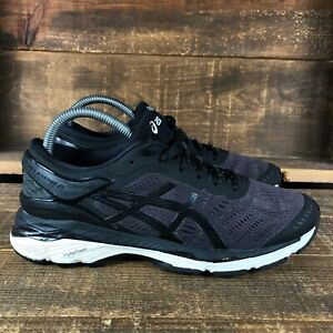 Asics Womens Gel Kayano 24 T799N Black Low Top Lace Up Running Shoes Size 8.5