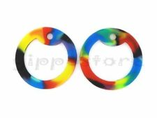 4 Rainbow Color Silicone Military Army Dog Tag Silencers Rubber Silencer