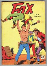 FOX N°35 Très Bon Etat - Editions Lug juillet 1957-