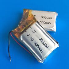 2 pcs 3.7v 500mAh 902030 Lipo Battery for MP3 DVD GPS Headphone Selfie stick PSP