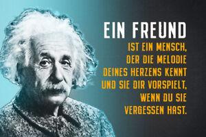 Albert Einstein Collage Spruch 28 Blechschild Schild Tin Sign 20 x 30 cm R0752