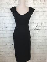 JULIEN MACDONALD - Black Sleeveless Bodycon Pencil Dress - Womens - Size 10