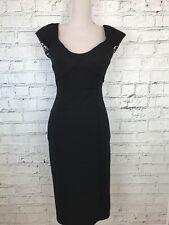 JULIEN MACDONALD - Black Sleeveless Bodycon Pencil Dress - Womens - Size 10