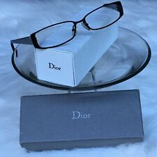 Christian Dior Black/Gray Silver Rx Eyeglasses Frames Quilted No Lenses CD3710