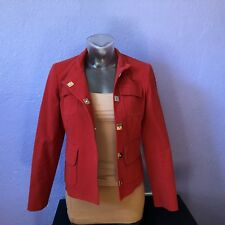 JONES NEW YORK $129 Rust Color Collarless Snap Button Jacket 2P GORGEOUS CHIC