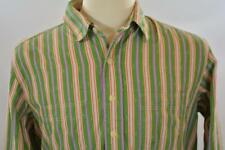 Polo Ralph Lauren Large Green Blue Navajo Native Stripe Long Sleeve Casual Shirt